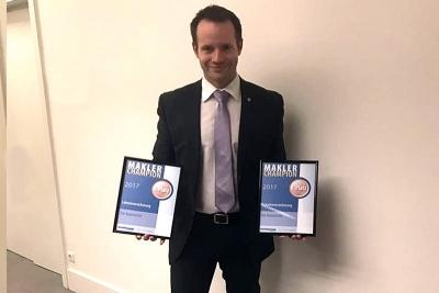 Maximilian Buddecke bei der Preisverleihung zum Makler-Champion