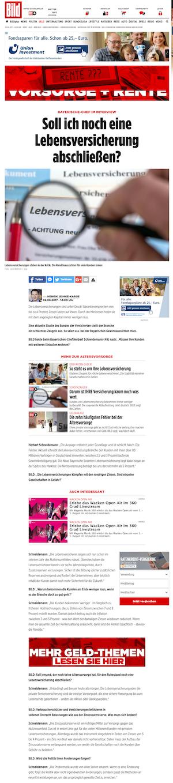 Dr. Herbert Schneidemann im Interview: Lebensversicherer unter Druck