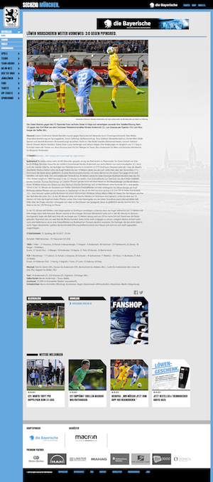 Der sechste Löwen-Sieg in Folge: 3:0 gegen den FC Pipinsried