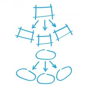 skizzen viereck kreis